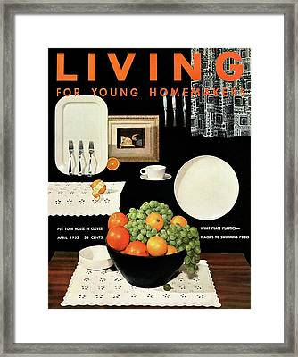 A Fruit Bowl By Plastic Productions Framed Print by Ernest Silva