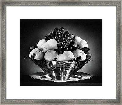 A Fruit Bowl Framed Print by Peter Nyholm