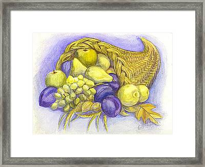 A Fruitful Horn Of Plenty Framed Print by Carol Wisniewski