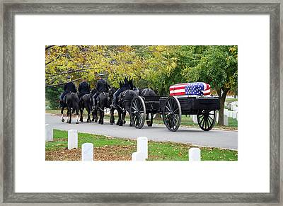Framed Print featuring the photograph A Funeral In Arlington by Cora Wandel