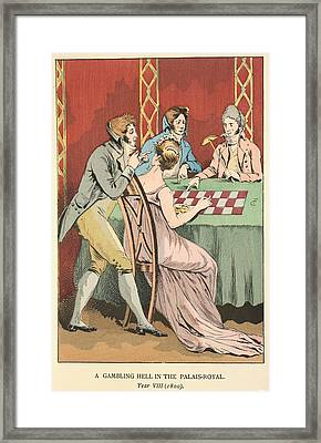 A Gambling Hell Framed Print by British Library