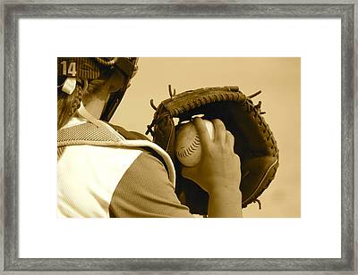 A Game Of Catch Framed Print
