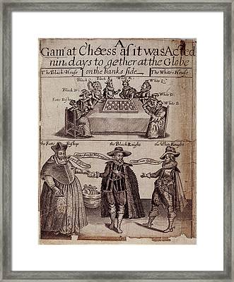 A Game Of Chess Framed Print by British Library