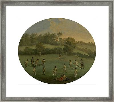 A Game Of Cricket The Royal Academy Club In Marylebone Framed Print by Litz Collection