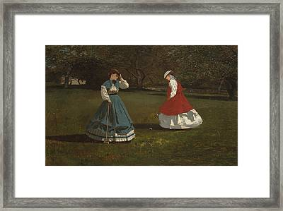 A Game Of Croquet Framed Print by Celestial Images