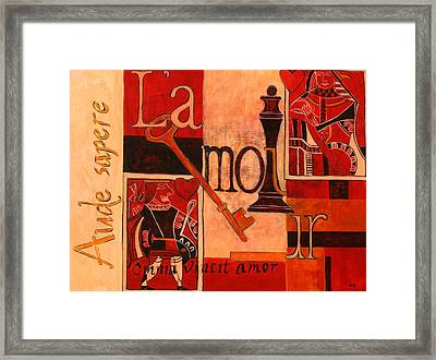 A Game Of Hearts Framed Print