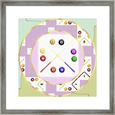 A Game Of Pool Framed Print by L Wright