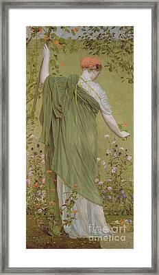 A Garden Framed Print by Albert Joseph Moore