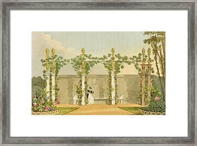 A Garden Seat Framed Print by John Buonarotti Papworth