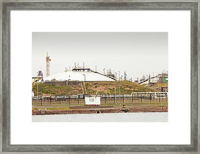 A Gas Condensate Storage Facility Framed Print