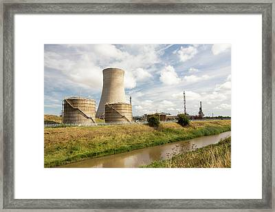 A Gas Fired Power Station At Salt End Framed Print
