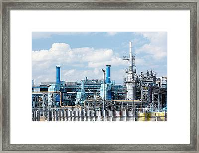 A Gas Plant Receiving North Sea Gas Framed Print by Ashley Cooper