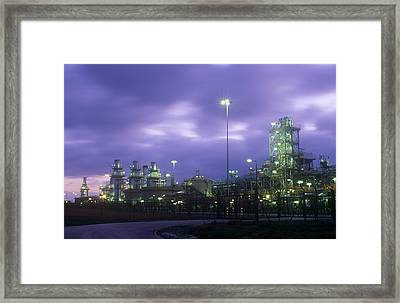 A Gas Processing Plant Framed Print by Ashley Cooper
