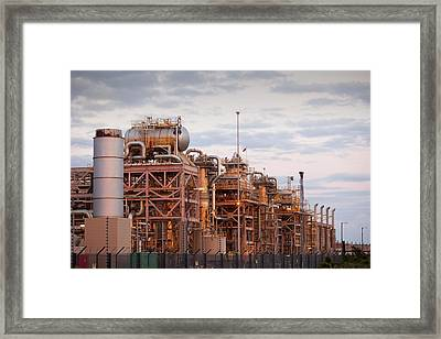 A Gas Processing Plant At Rampside Framed Print