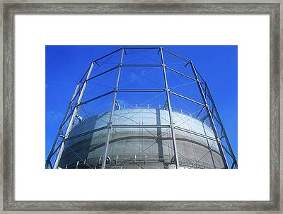 A Gasometer In Leeds Framed Print by Ashley Cooper