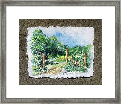 A Gate To The Ranch Briones Park California Framed Print