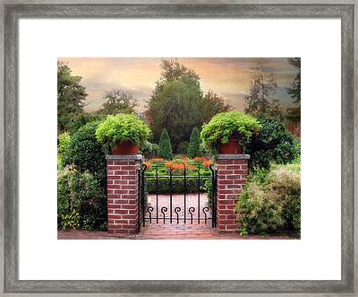 A Gated Garden Framed Print by Jessica Jenney
