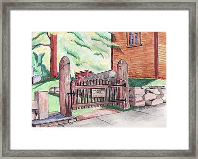 A Gateway To The Past Framed Print