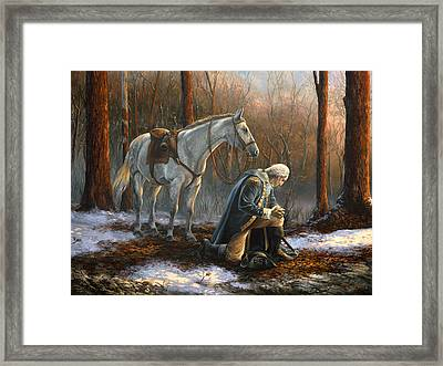 A General Before His King Framed Print by Tim Davis