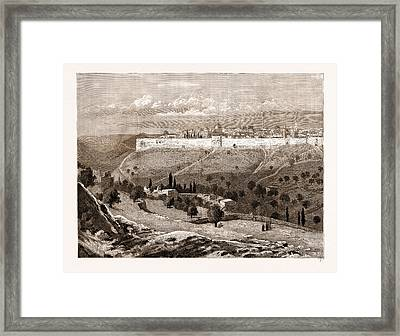A General View Of The City Of Jerusalem Framed Print by Litz Collection