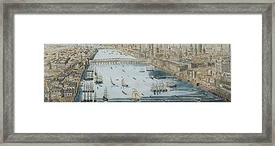 A General View Of The City Of London And The River Thames Framed Print by Thomas Bowles