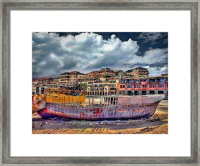 A Genesis Sunrise Over The Old City Framed Print by Ronsho