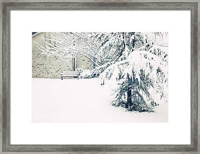 A Gentle Frosting Framed Print