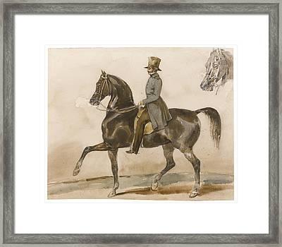 A Gentleman On Horseback Framed Print