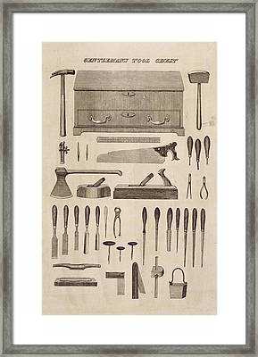 A Gentlemans Tool Chest Framed Print by English School