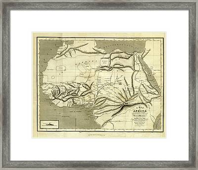 A Geographical And Commercial View Of Northern Central Framed Print by Litz Collection
