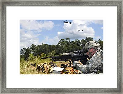 A Georgia Army National Guardsman Fires Framed Print by Stocktrek Images