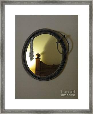 A Ghost Of The Cowboy Framed Print by Ausra Huntington nee Paulauskaite
