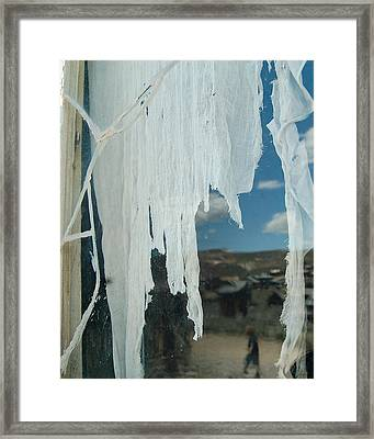 Framed Print featuring the photograph A Ghostly View by Tamyra Crossley