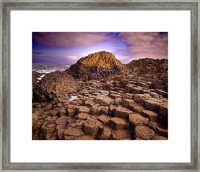 A Giant's Footsteps Framed Print