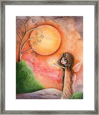 A Gift To The Moon Framed Print