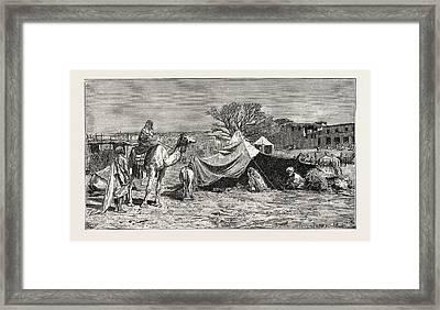 A Gipsy Tent. Egypt Framed Print