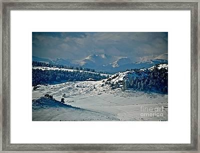 A Glacier View  Framed Print by Susan Chesnut