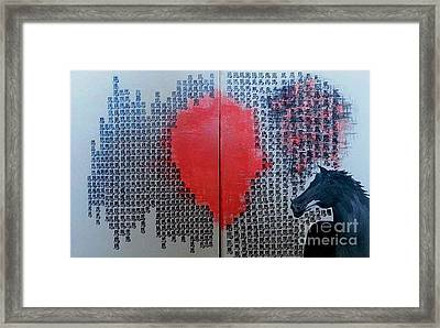 A Glance Of The Wind Framed Print