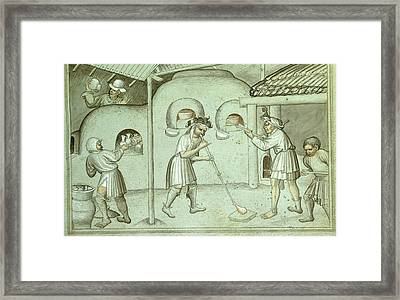 A Glass Blowing Factory Framed Print