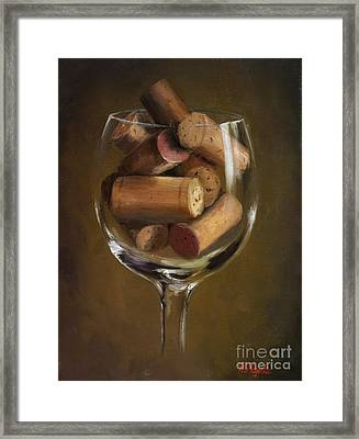 A Glass Of Cork Framed Print