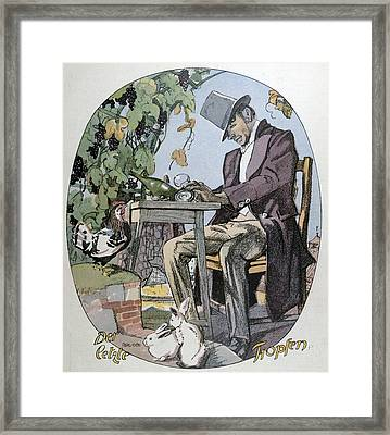 A Glass Of Wine. Food And Drink, Liszt Gourmet Archive Framed Print by Gotz, Ferdinand (1874-1936), German