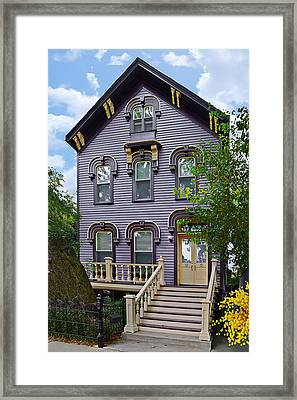 A Glimpse Into Old Town Chicago Framed Print