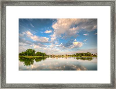 A Glimpse Of Daniel Island Framed Print