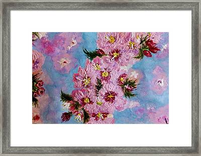 Framed Print featuring the painting A Glimpse Of Spring... by Cristina Mihailescu