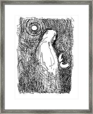 A Glimpse Of The Christ Framed Print