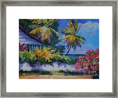 A Glimpse Of The Sea Framed Print by John Clark