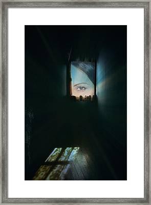 A Glimpse Framed Print