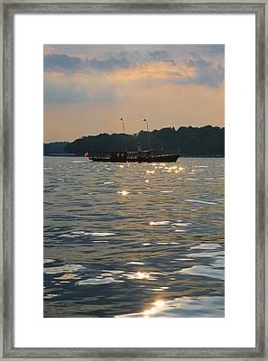 A Glint Of Glory - Lake Geneva Wisconsin Framed Print