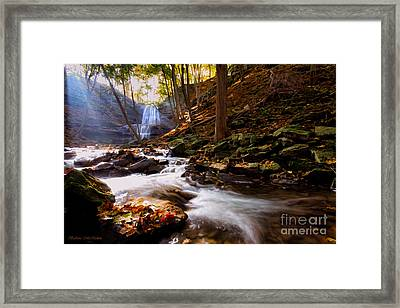 A Glorious Autumn Morning By The Creek Framed Print