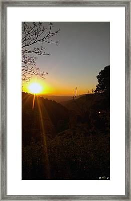 A Glorious Sunrise Over Nebo Framed Print by Edwin Vincent